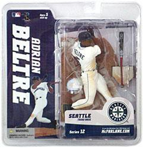 McFarlane Toys MLB Seattle Mariners Sports Picks Series 12 Adrian Beltre Action Figure [White Jersey]