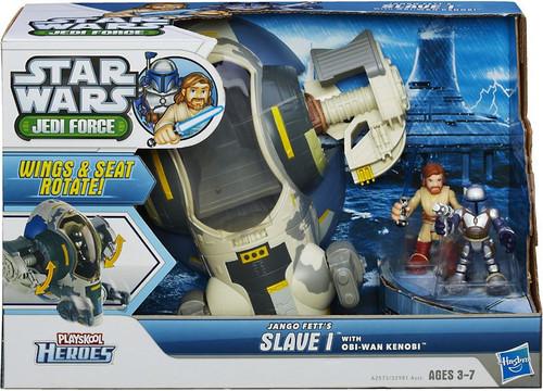 Star Wars Jedi Force Jango Fett's Slave 1 with Obi-Wan Kenobi Mini Figure Set