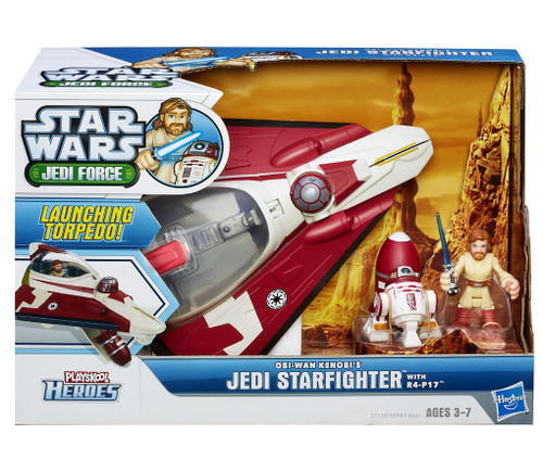 Star Wars Jedi Force Obi-Wan Kenobi's Jedi Starfighter with R4-P17 Mini Figure Set