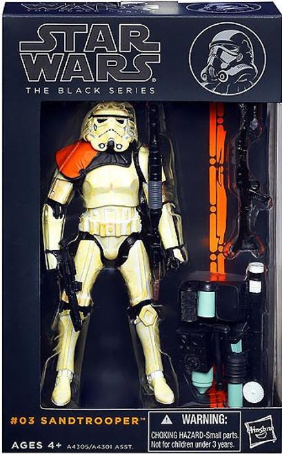Star Wars A New Hope Black Series Wave 1 Sandtrooper Action Figure #03 [Orange Shoulder Pauldron]