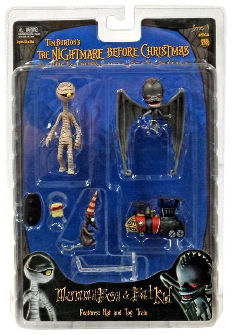 NECA The Nightmare Before Christmas Series 4 Mummy Boy & Bat Kid Action Figure Set