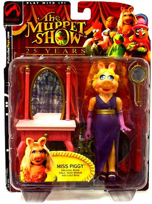 The Muppets The Muppet Show Series 1 Miss Piggy Action Figure [Purple Dress]