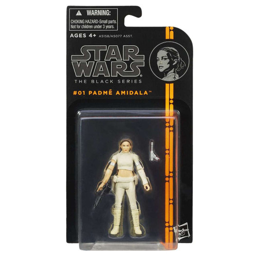 Star Wars Attack of the Clones Black Series Wave 1 Padme Amidala Action Figure #01