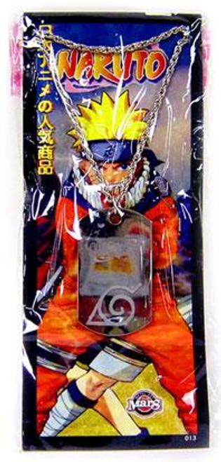Laser Etched Naruto Logo Dog Tag