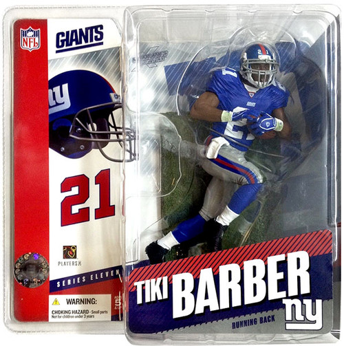 McFarlane Toys NFL New York Giants Sports Picks Series 11 Tiki Barber Action Figure [Blue Jersey]
