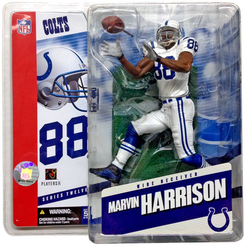 McFarlane Toys NFL Indianapolis Colts Sports Picks Series 12 Marvin Harrison Action Figure [White Jersey]