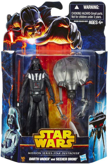 Star Wars Expanded Universe Mission Series 2013 Darth Vader & Seeker Droid Action Figure 2-Pack MS01 [Star Destroyer]