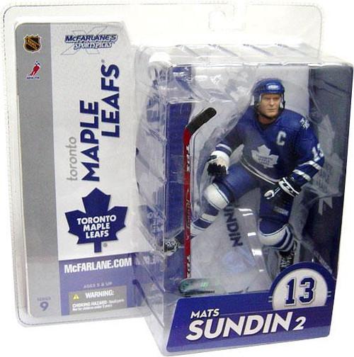 McFarlane Toys NHL Toronto Maple Leafs Sports Picks Series 9 Mats Sundin Action Figure [Blue Jersey Variant]