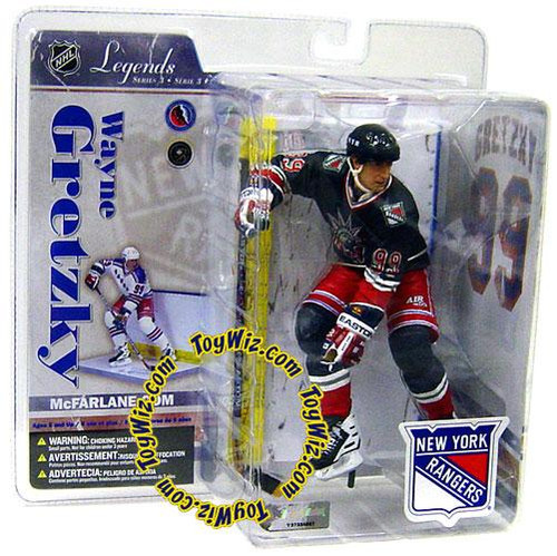 McFarlane Toys NHL New York Rangers Sports Picks Legends Series 3 Wayne Gretzky Action Figure [Blue Liberty Jersey Variant]