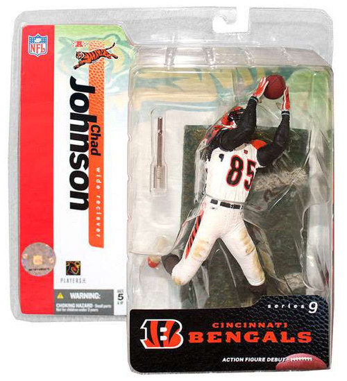 McFarlane Toys NFL Cincinnati Bengals Sports Picks Series 9 Chad Ochocinco Johnson Action Figure [White Jersey]