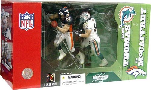McFarlane Toys NFL Miami Dolphins / Denver Broncos Sports Picks 2-Packs Zach Thomas & Ed McCaffrey Action Figure 2-Pack
