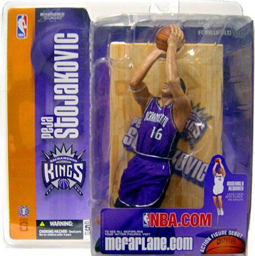 McFarlane Toys NBA Sacramento Kings Sports Picks Series 6 Peja Stojakovic Action Figure [Purple Jersey Variant]