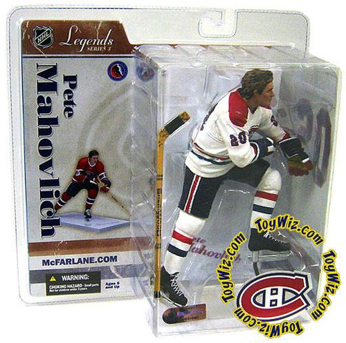 McFarlane Toys NHL Montreal Canadiens Sports Picks Legends Series 3 Pete Mahovlich Action Figure [White Jersey Variant]