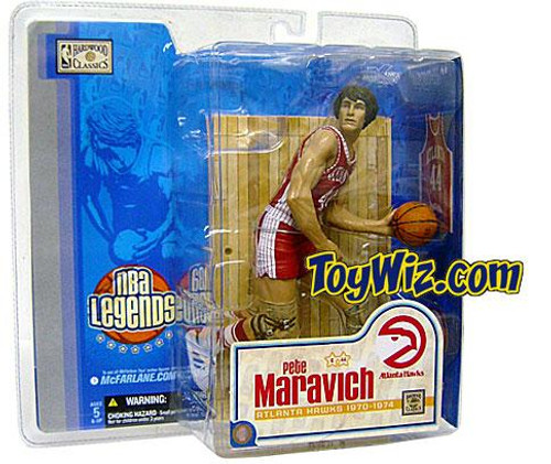 McFarlane Toys NBA Atlanta Hawks Sports Picks Legends Series 1 Pete Maravich Action Figure [Red Jersey Variant]