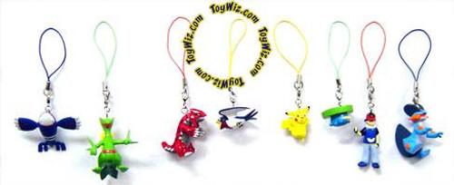 Pokemon Set of 8 Phone Danglers PVC Figures [Ash, Groudon & Kyogre]