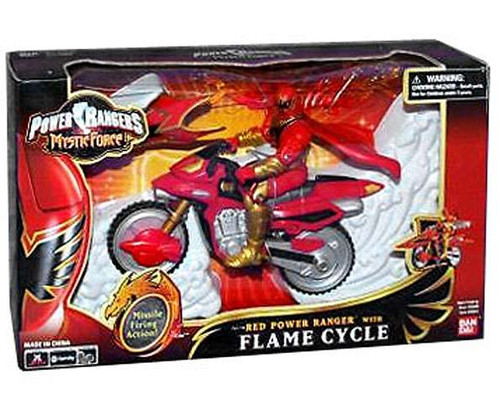Power Rangers Mystic Force Red Power Ranger with Flame Cycle Action Figure