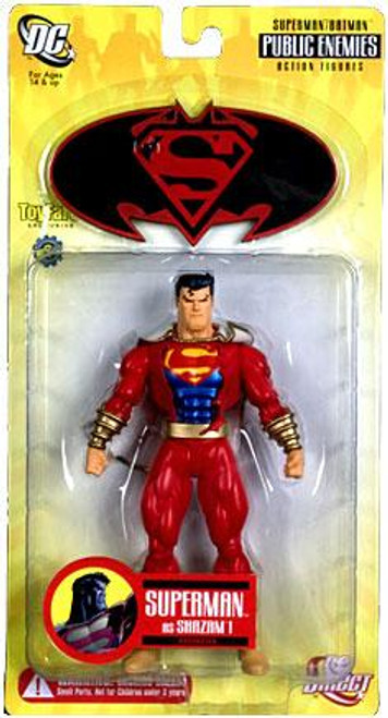 DC Superman Batman Series 1 Public Enemies Superman as Shazam Exclusive Action Figure