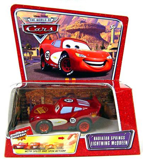 Disney Cars The World of Cars Pullbax Motor Pull Back Radiator Springs Lightning McQueen Plastic Car