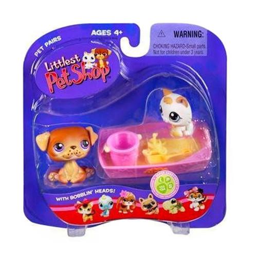 Littlest Pet Shop Pet Pairs Puppy & Kitten Figure 2-Pack [Sandbox]