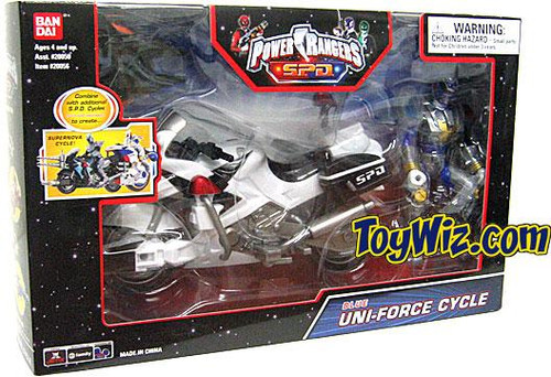 Power Rangers SPD Blue Uni-Force Cycle Action Figure Vehicle