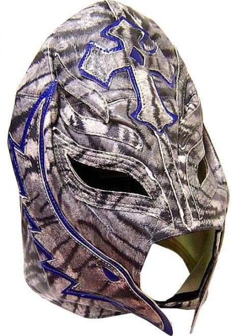 WWE Wrestling WCW Rey Mysterio Replica Mask [Adult, Zebra Design]
