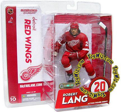 McFarlane Toys NHL Detroit Red Wings Sports Picks Series 10 Robert Lang Action Figure [Red Jersey Variant]