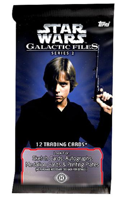 Star Wars Galactic Files Series 2 Trading Card Pack