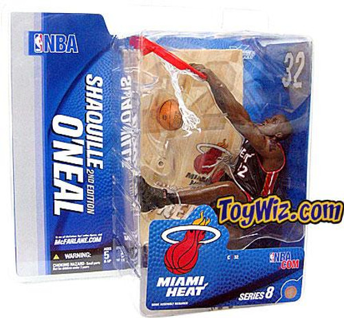 McFarlane Toys NBA Miami Heat Sports Picks Series 8 Shaquille O'Neal 2 Action Figure [Black Jersey Variant]