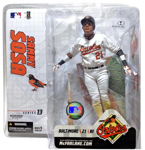 McFarlane Toys MLB Baltimore Orioles Sports Picks Series 13 Extended Sammy Sosa Action Figure [White Jersey]