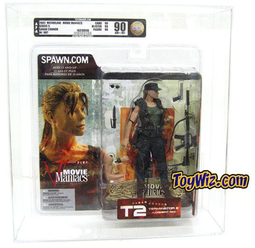 McFarlane Toys The Terminator Terminator 2 Judgment Day Movie Maniacs Series 5 Sarah Connor Action Figure [AFA 90] [AFA Graded 90]