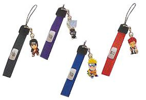 Naruto Set of 4 PVC Cell Phone Danglers