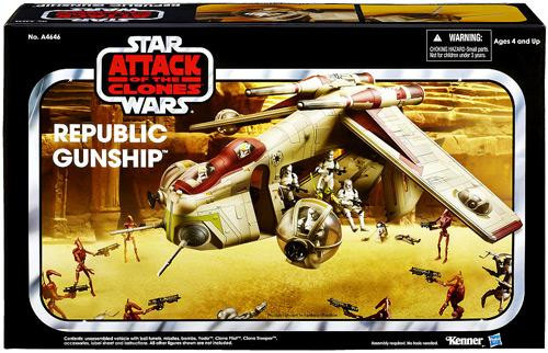 Star Wars Attack of the Clones Vintage Collection Vehicles Republic Gunship Exclusive Action Figure Vehicle