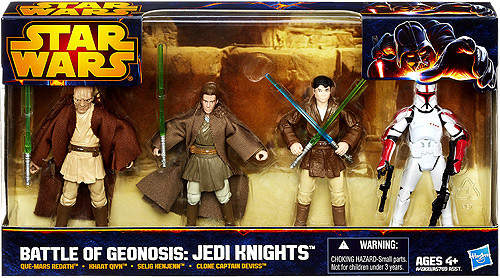 Star Wars Attack of the Clones Boxed Sets 2012 Battle of Geonosis: Jedi Knight Exclusive Action Figure Set [2 of 2]