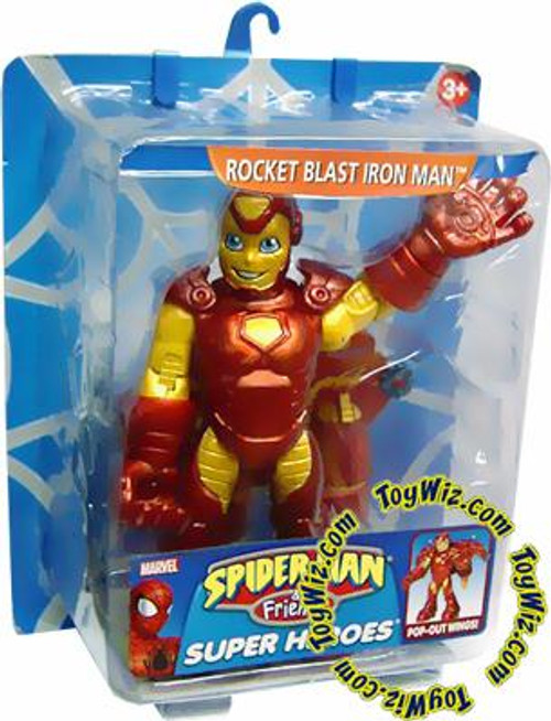Spider-Man & Friends Super Heroes Rocket Blast Iron Man Action Figure