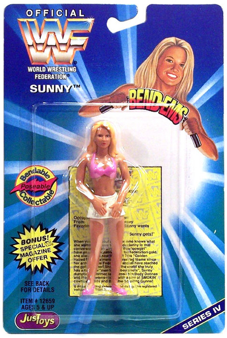 WWE Wrestling WWF Bend-Ems Series 4 Sunny Rubber Figure