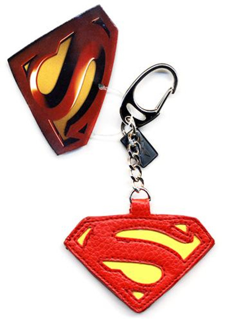Superman Returns Superman Logo Leather Keychain