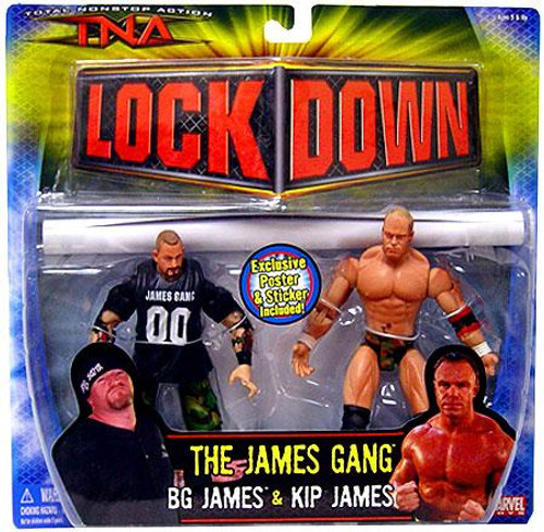 TNA Wrestling Lock Down Series 3 Kip James vs. BG James Action Figure 2-Pack