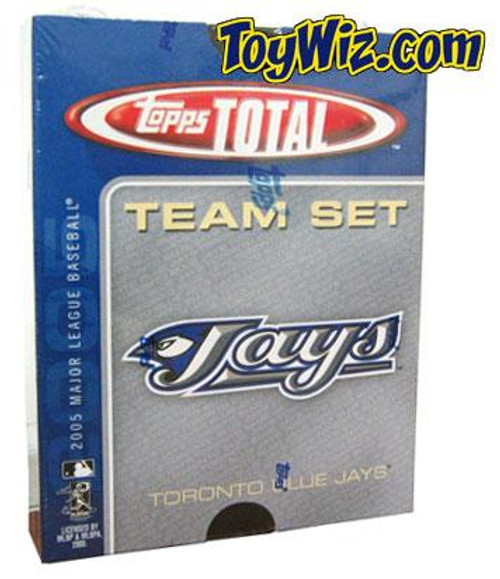 MLB 2005 Topps Total Baseball Cards Toronto Blue Team Set