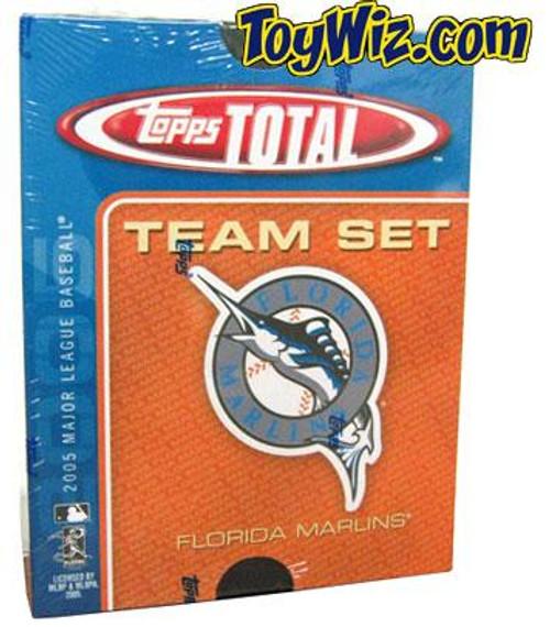 MLB 2005 Topps Total Baseball Cards Florida Marlins Team Set