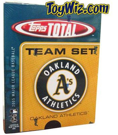 MLB Oakland A's 2005 Topps Total Baseball Cards Oakland Athletics Team Set