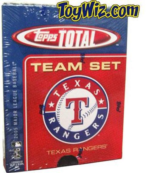 MLB 2005 Topps Total Baseball Cards Texas Rangers Team Set