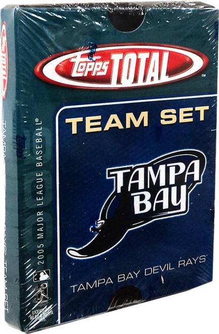 MLB 2005 Topps Total Baseball Cards Tampa Bay Rays Team Set