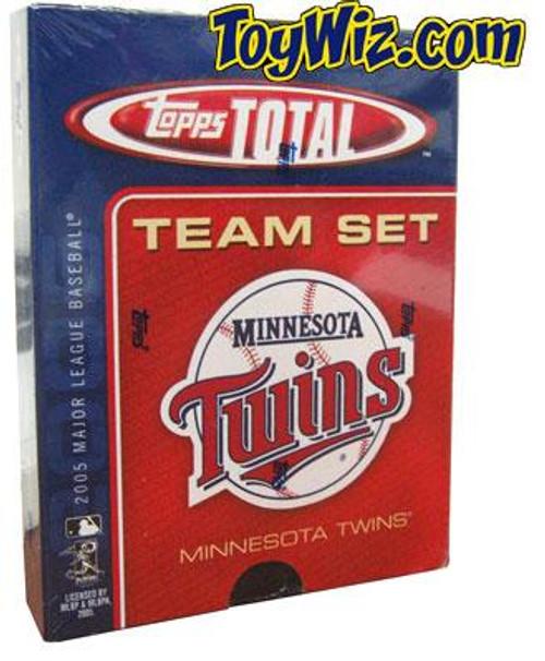MLB 2005 Topps Total Baseball Cards Minnesota Twins Team Set