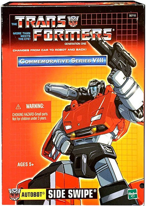 Transformers Generation 1 Commemorative Series VIII Sideswipe Action Figure