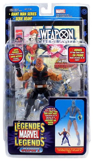 Marvel Legends Giant Man Build A Figure Weapon X Exclusive Action Figure [Burned Variant]