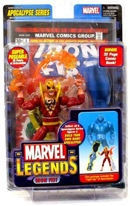 Marvel Legends Series 12 Apocalypse Iron Fist Action Figure [Red Variant]