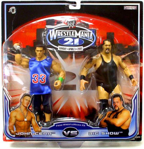 WWE Wrestling WrestleMania 21 Series 1 John Cena vs. Big Show Exclusive Action Figure 2-Pack