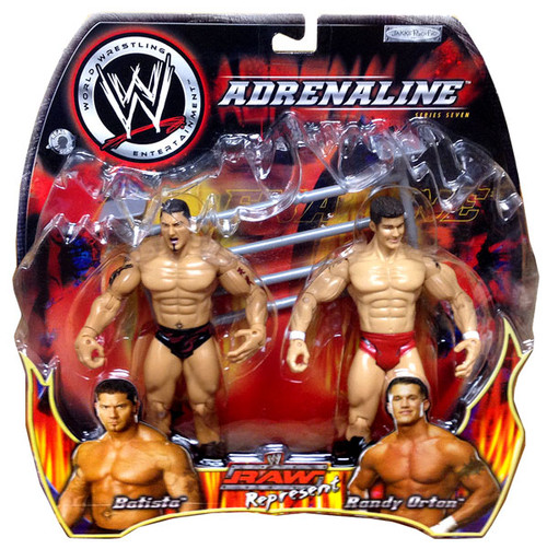 WWE Wrestling Adrenaline Series 7 Raw Represent Batista & Randy Orton Action Figure 2-Pack