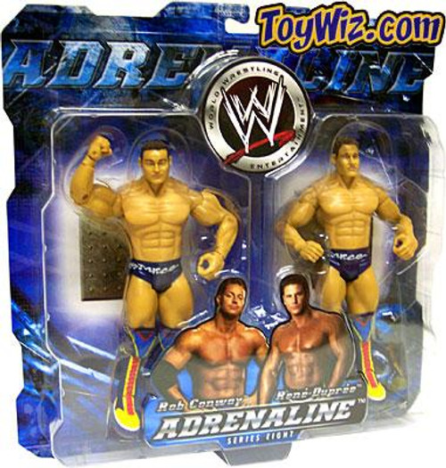 WWE Wrestling Adrenaline Series 8 La Resistance Rob Conway & Rene Dupree Action Figure 2-Pack