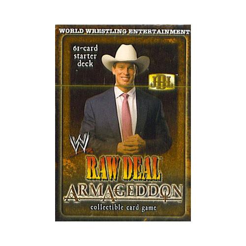 WWE Wrestling Raw Deal Trading Card Game Armageddon JBL Starter Deck